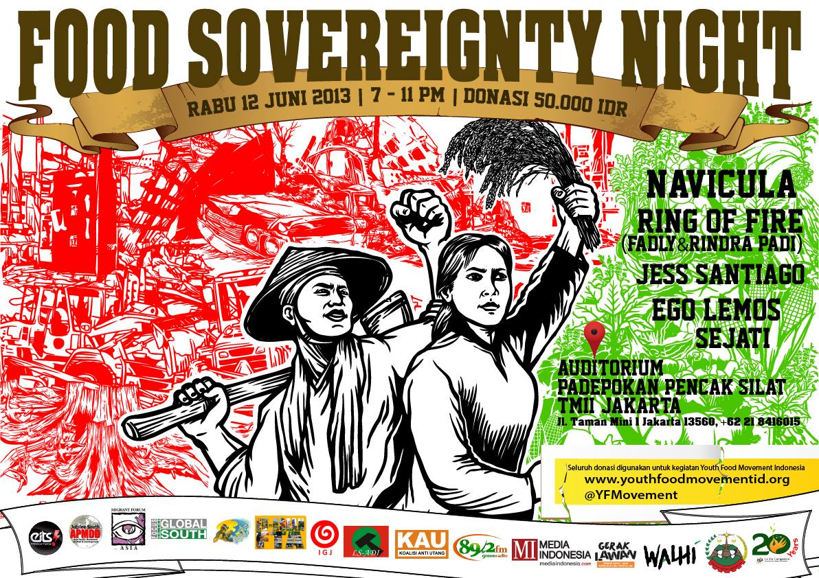 Concert for Food Sovereignty in Jakarta
